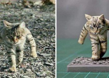 sculture di gatti esilaranti