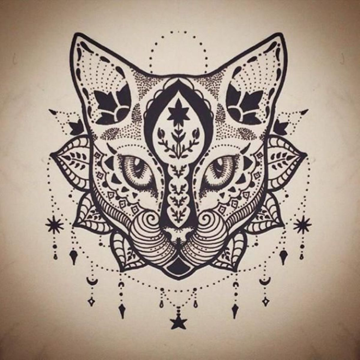 tattoo-gatto-mandala