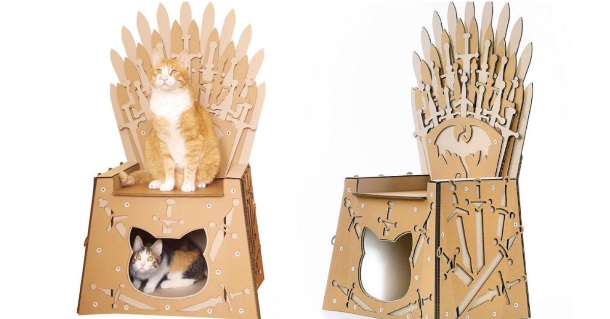 La casa scatola per gatti ispirata al Trono di Spade