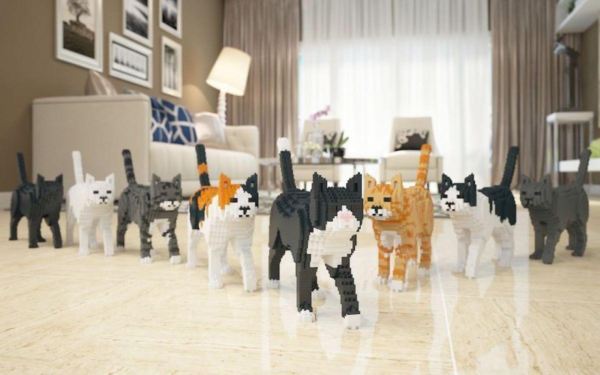 gatti-costruiti-con-le-lego-in-gruppo