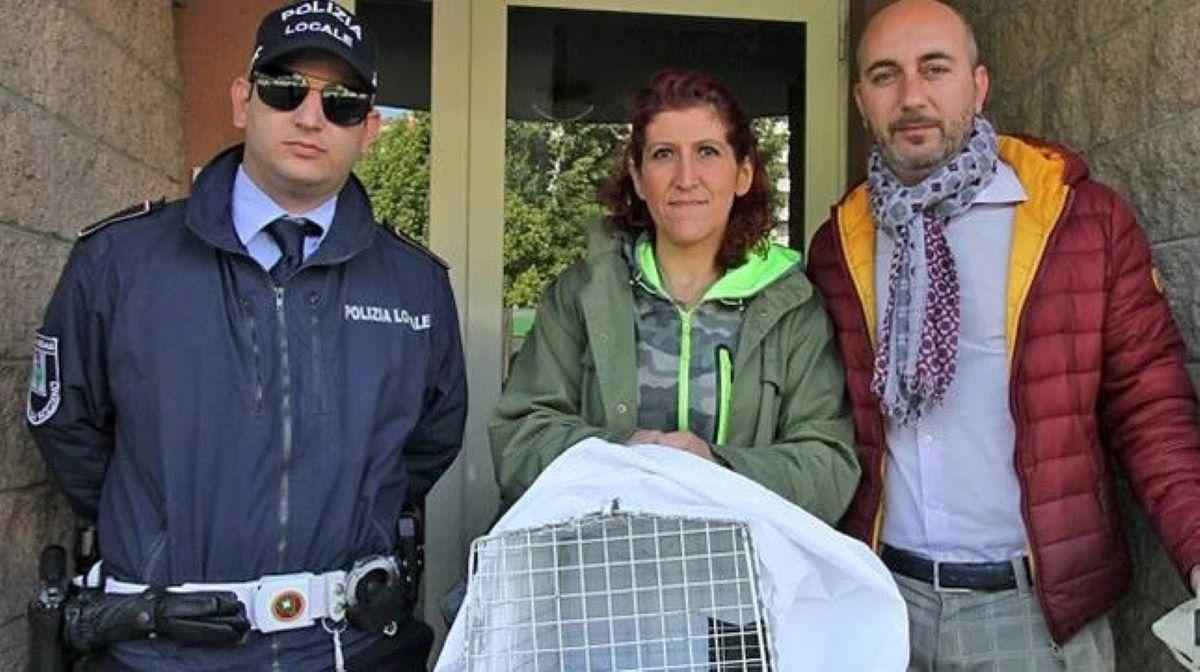 poliziotto-volontari-con-trasportino-gatto