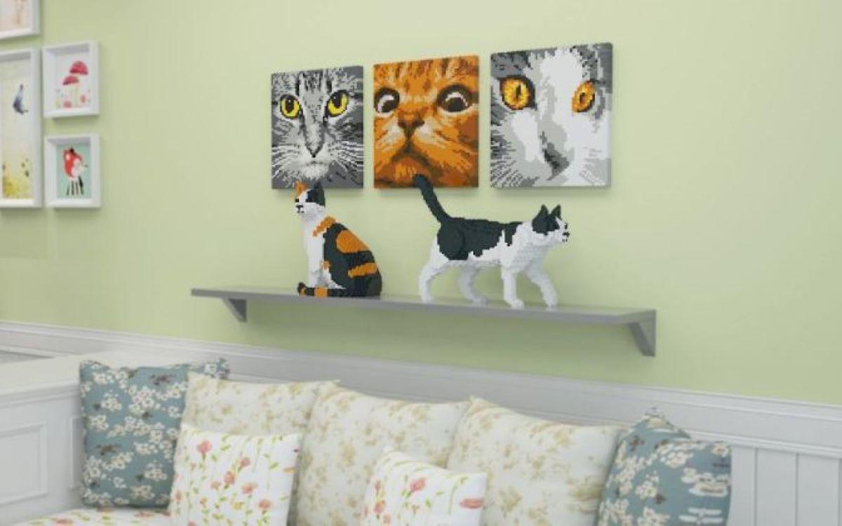 gatti-realizzati-con-i-lego-su-mensola