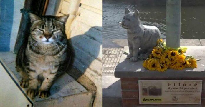 gatto-e-statua