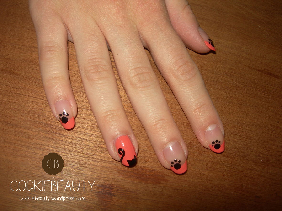 nail-art-gatti-arancione