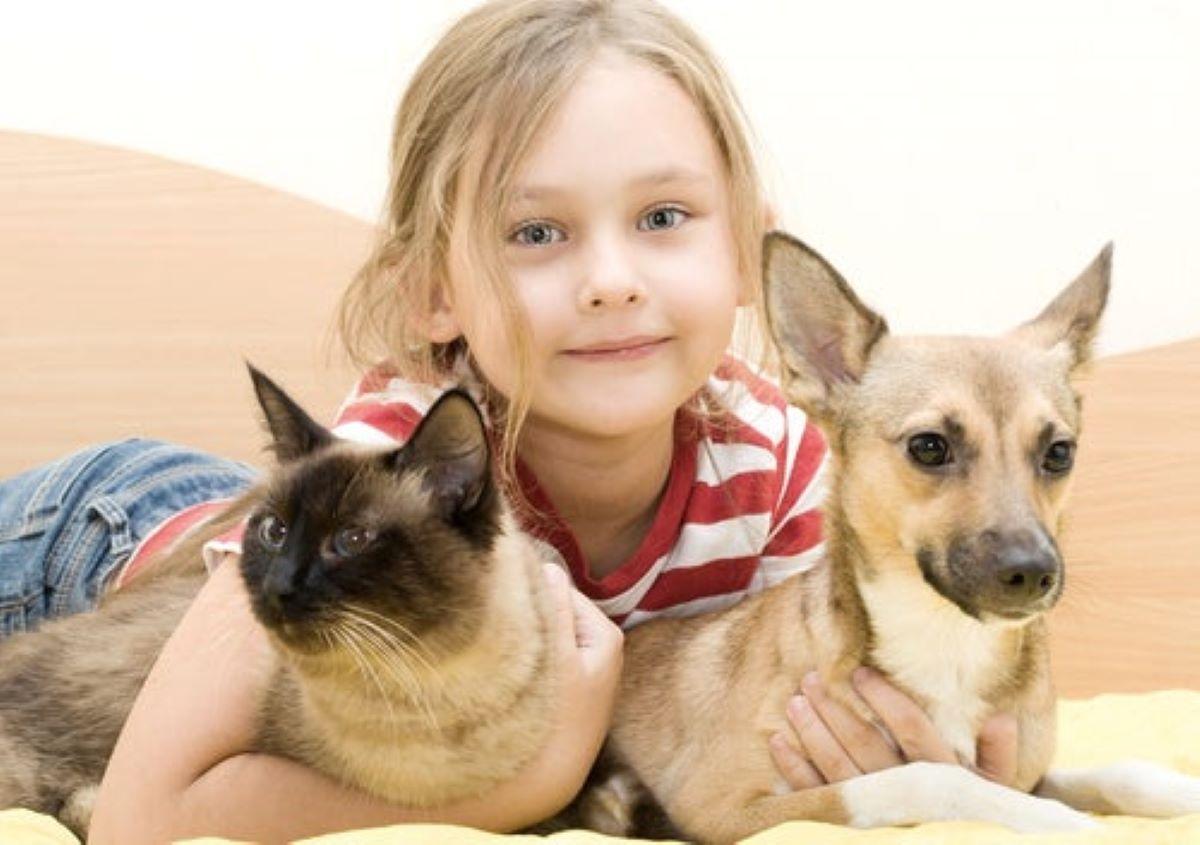 bambina-con-gatto-e-cane