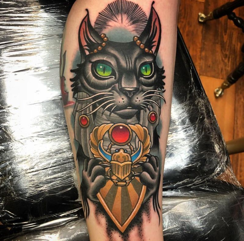 Gatto egiziano: tatoo belli da fare