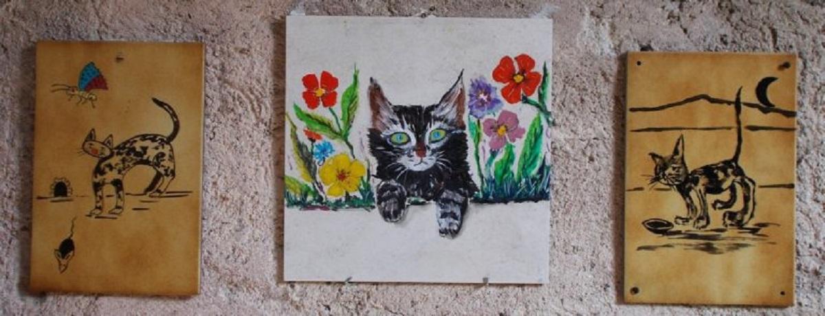 mattonella con gatto