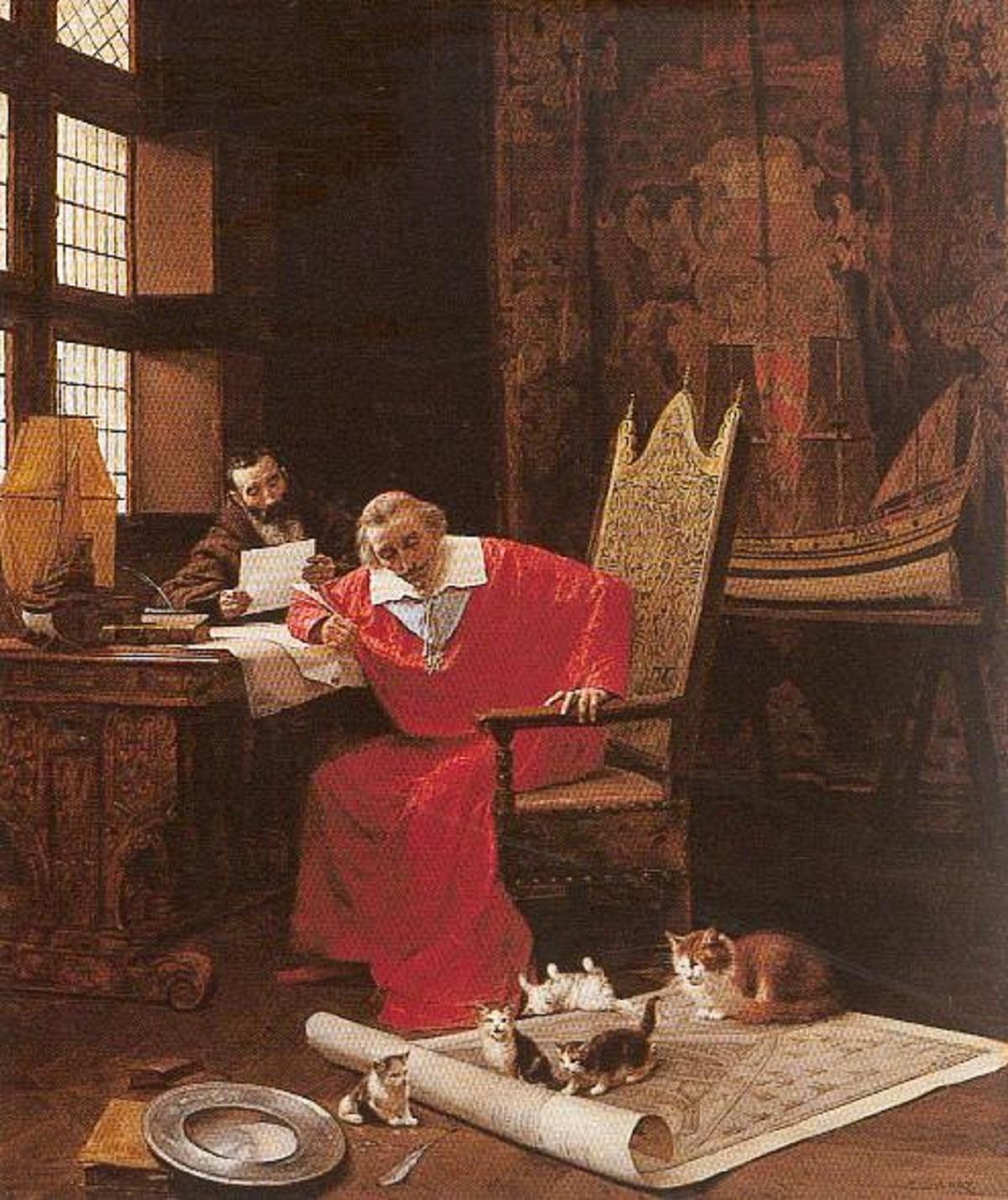 cardinale richelieu con i suoi gatti