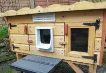 cuccia per gatti in legno
