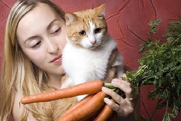 una donna tiene in braccio un gatto