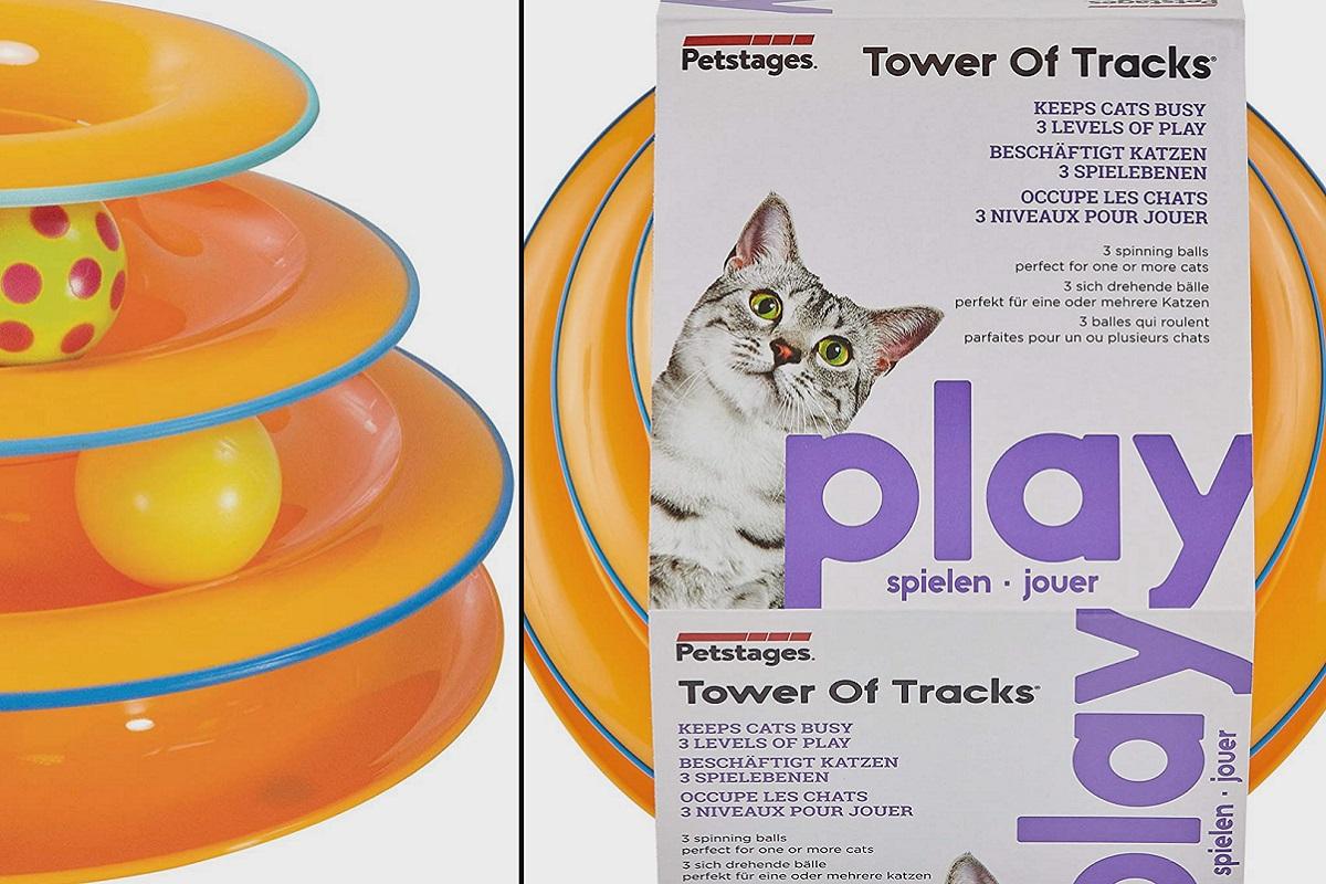 gioco a tre livelli per gatto