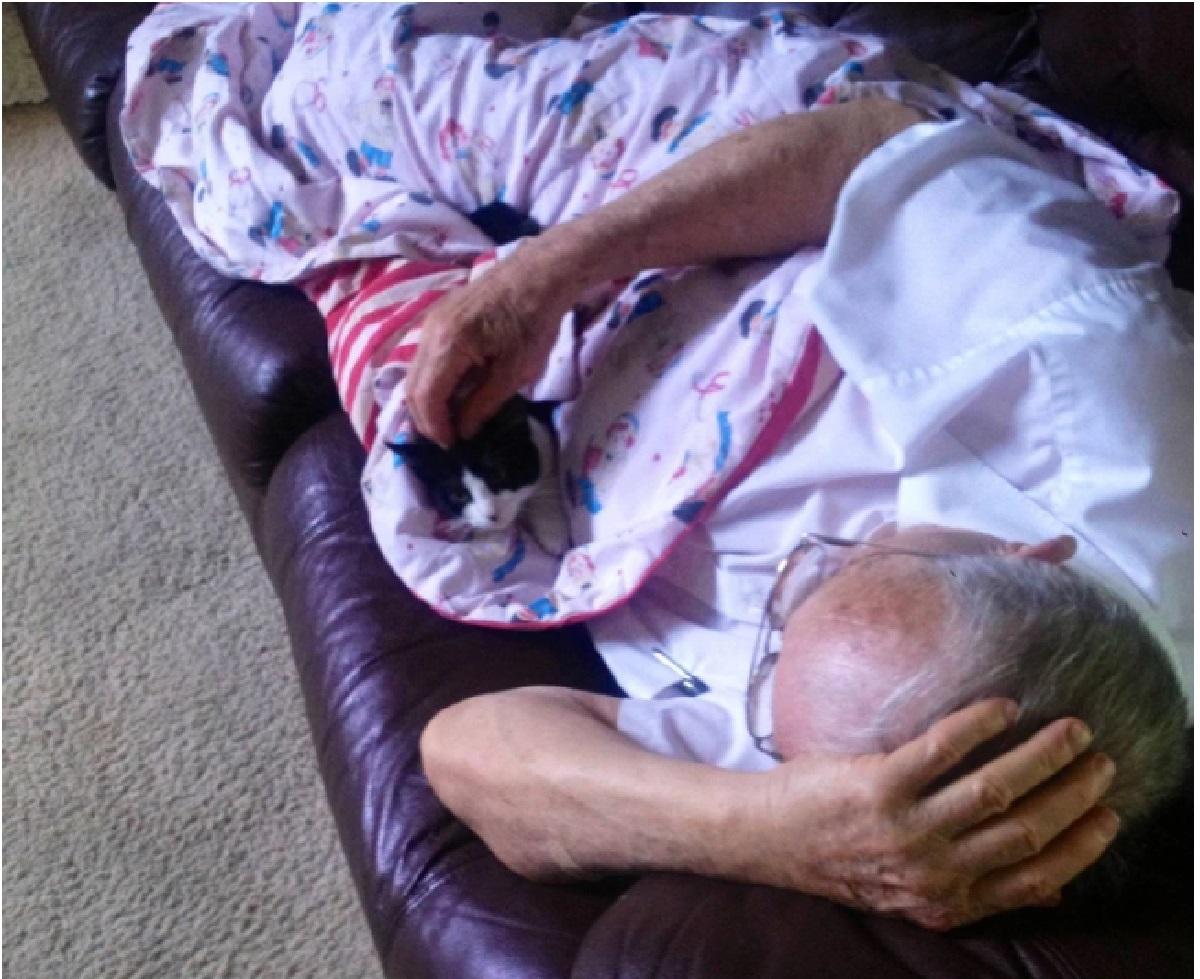 nonno e il gatto