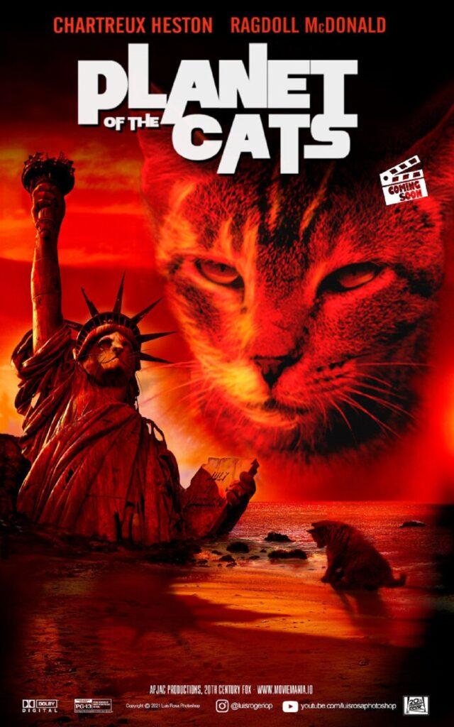 gatto statua della libertà