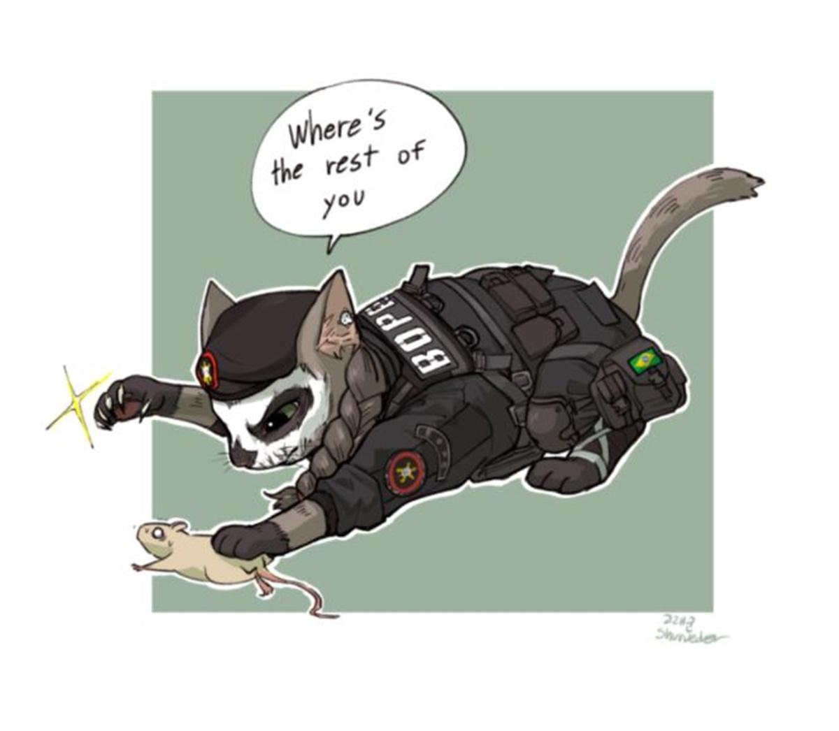 gatto caveira