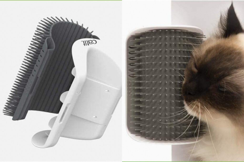 spazzola angolare per gatti
