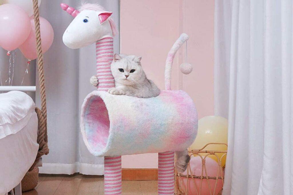 tiragraffi a forma di unicorno