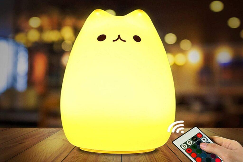 lampada a forma di gatto