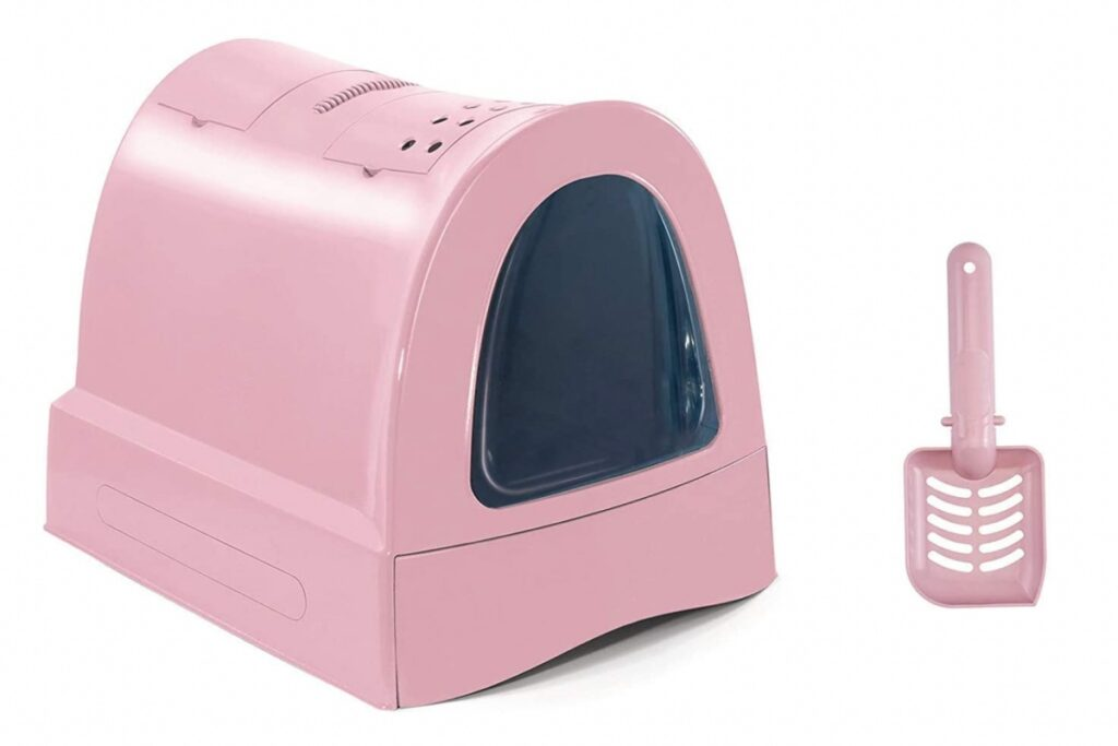 lettiera rosa per gatti