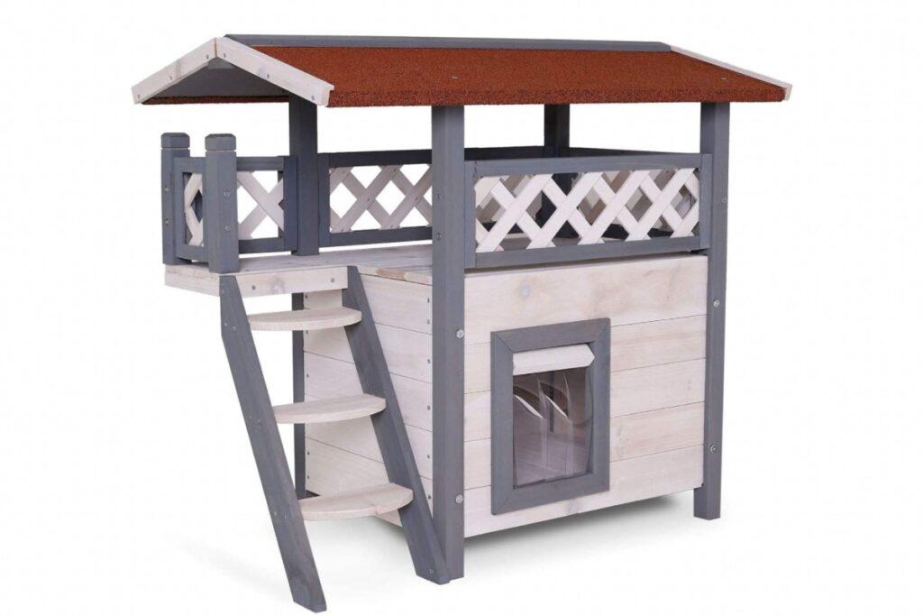 casetta di legno per gatti