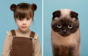 gattino bambina piccola