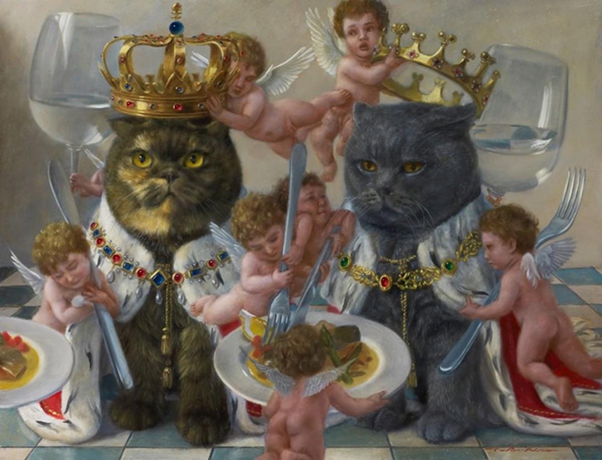 gatti si vestono