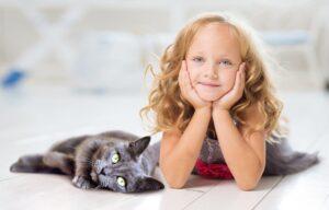 gatto bimba coppia