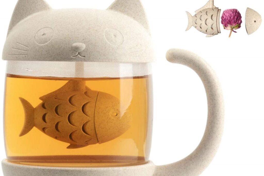 infusore per té a forma di gatto