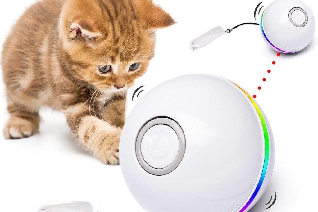 pallina interattiva per gatto