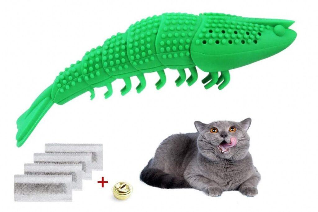 giocattolo per pulire i denti del gatto