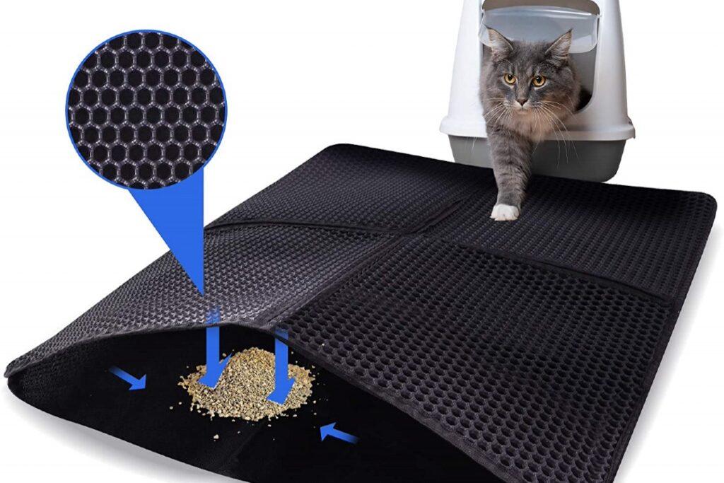 tappetino per lettiera dei gatti