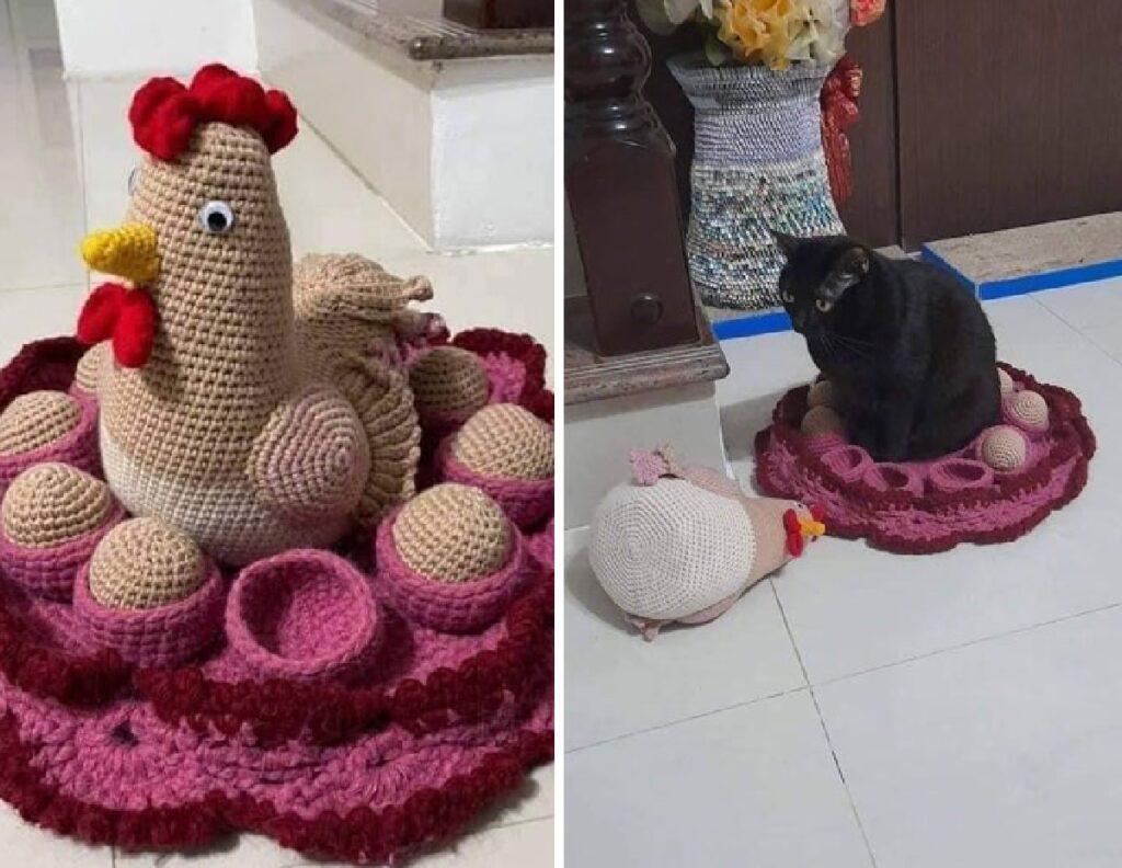 gatto al posto di gallina finta