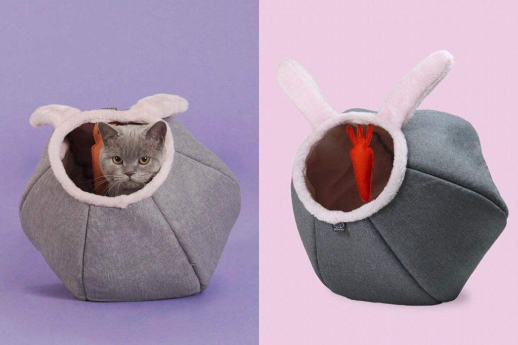 cuccia a forma di coniglietto