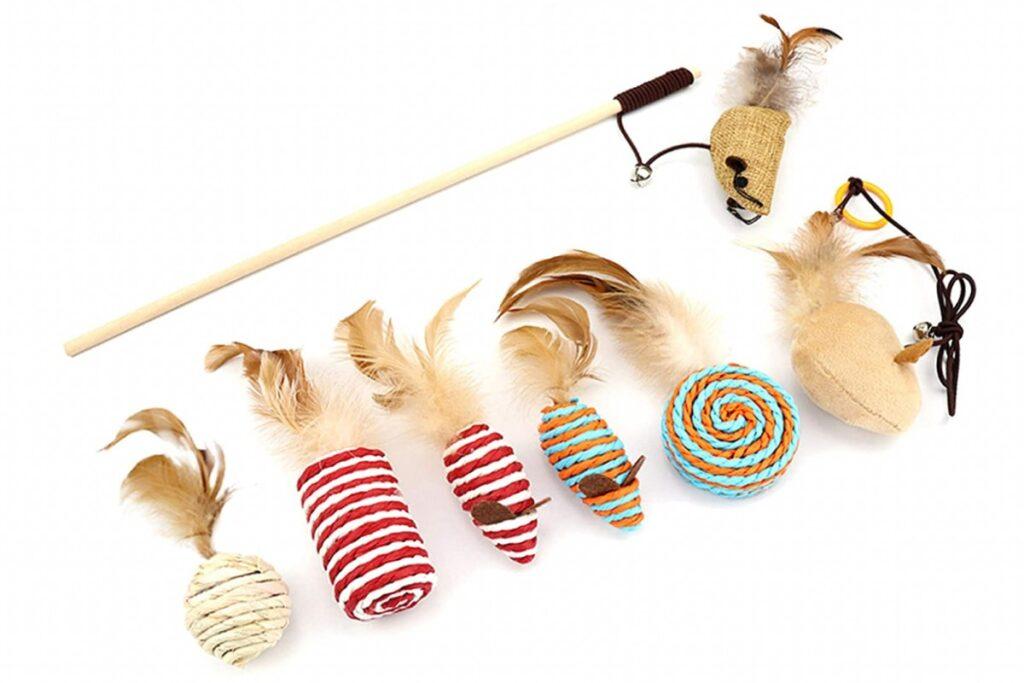 giocattoli in corda per gatti