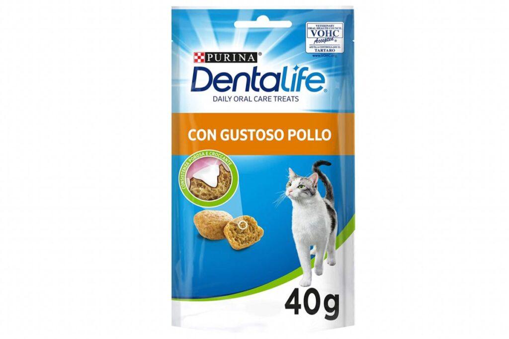 snack per pulire i denti dei gatti
