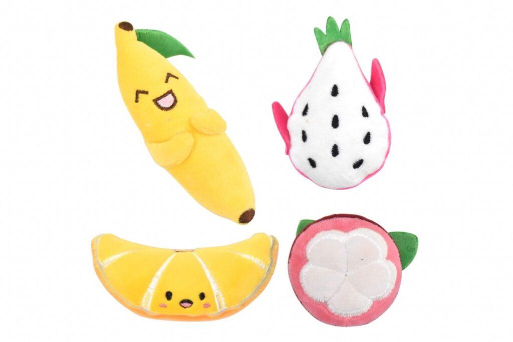 pupazzi a forma di frutta
