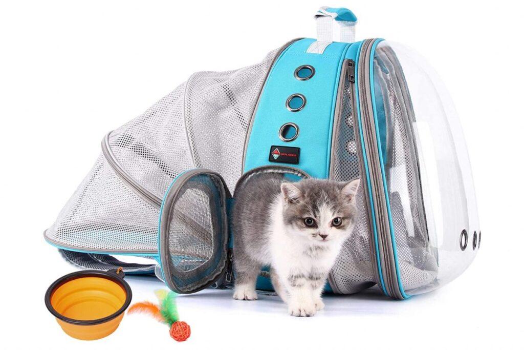 trasportino zaino per il gatto
