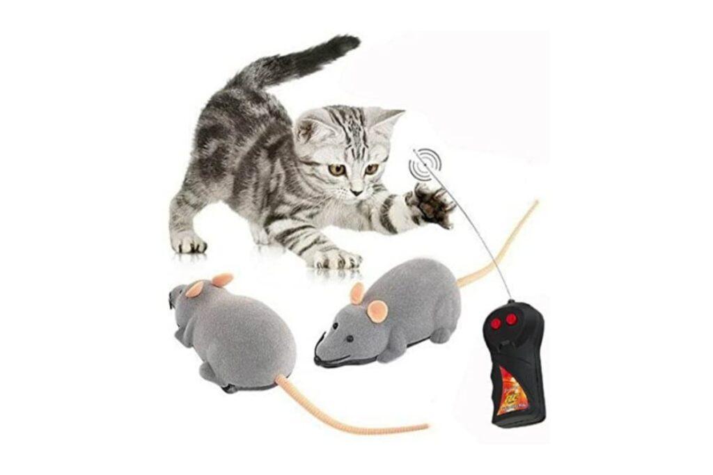 topolino telecomandato per gatti