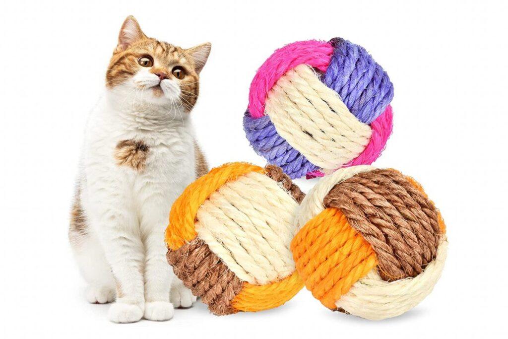 palline in sisal per gatti