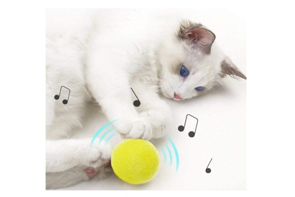 pallina sonora per gatti