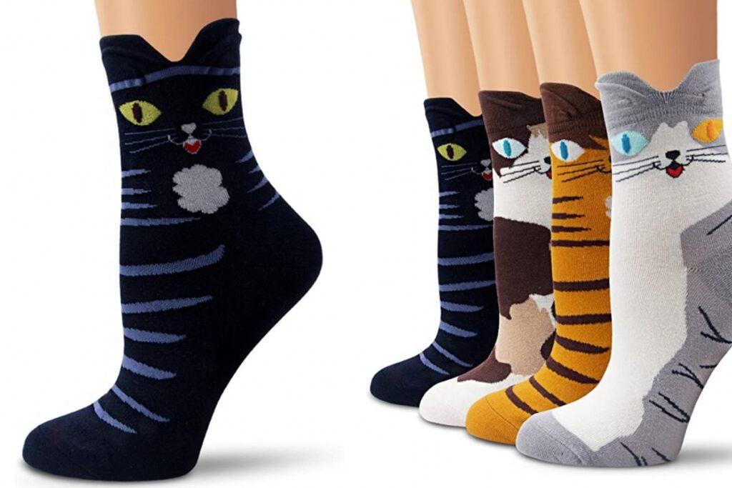 calzini a forma di gatto