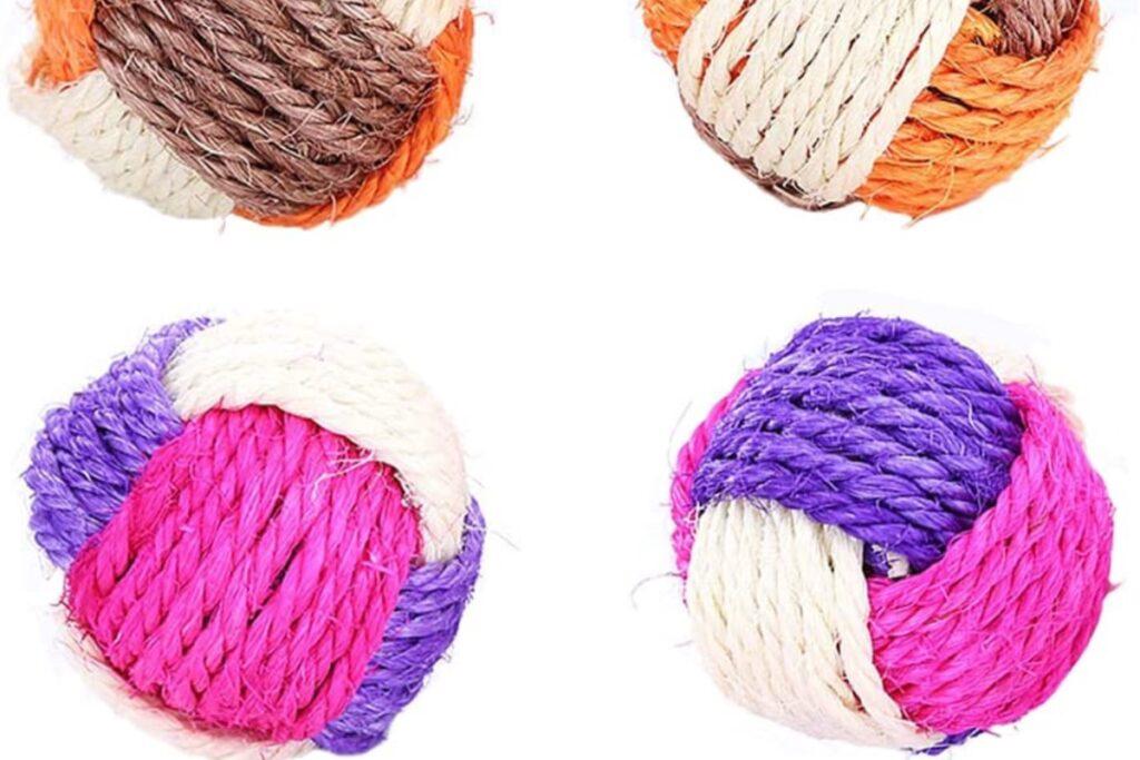 palline di corda per gatto