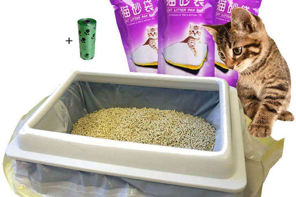 sacchetti per contenere la sabbia della lettiera del gatto
