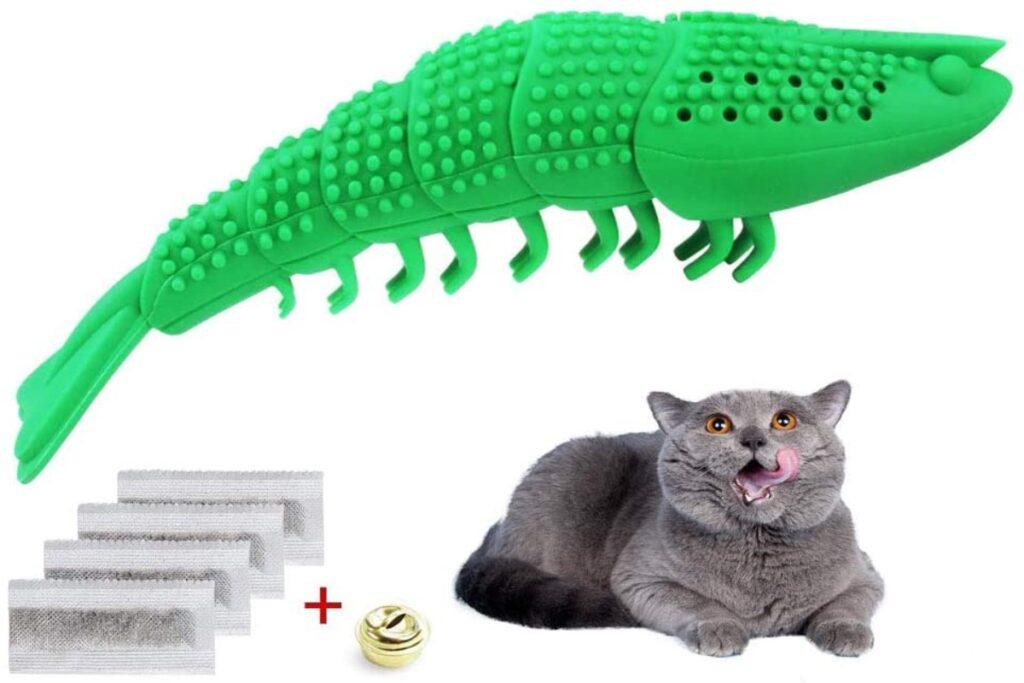 lucertola giocattolo per gatto