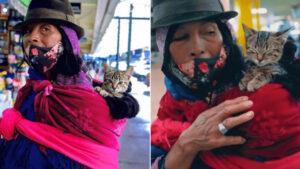 gattino con proprietaria