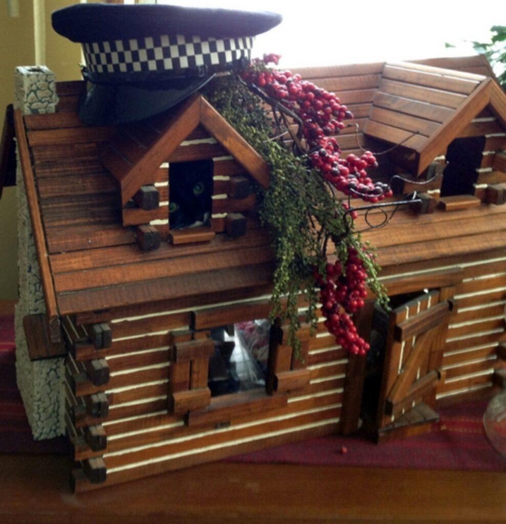 felino casetta legno