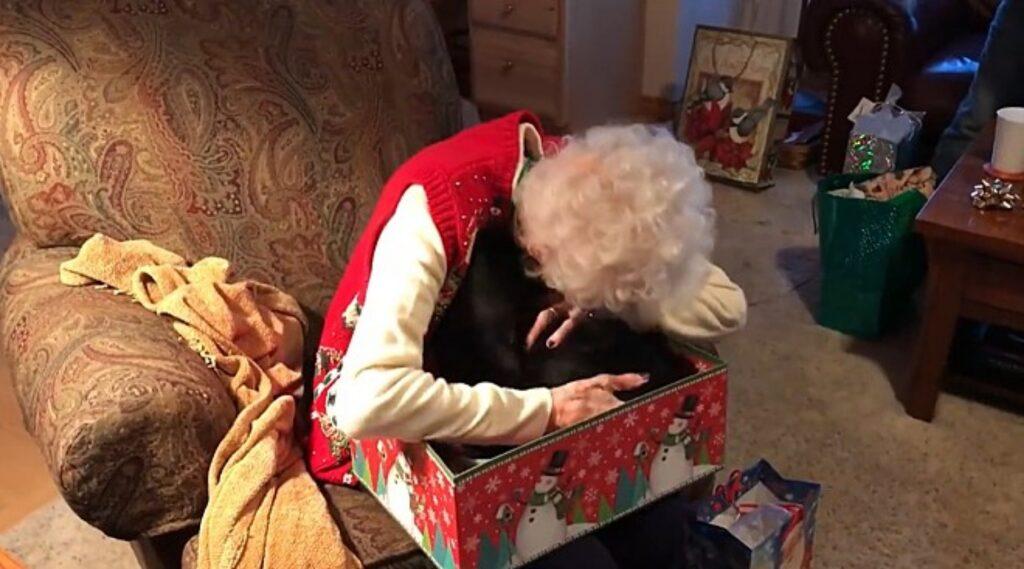 anziana piange per aver ricevuto gatto