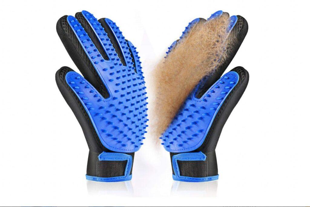 guanti da toelettatura in silicone